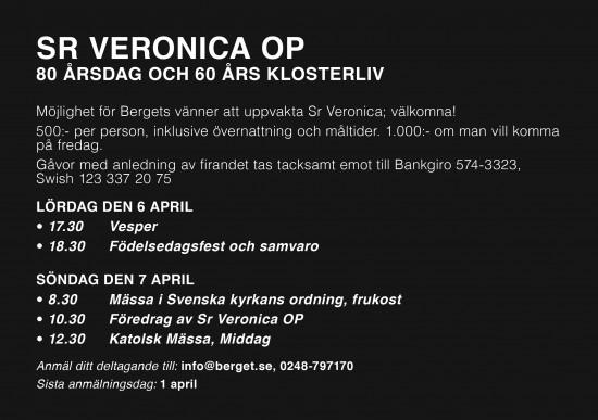 Sr Veronica 80