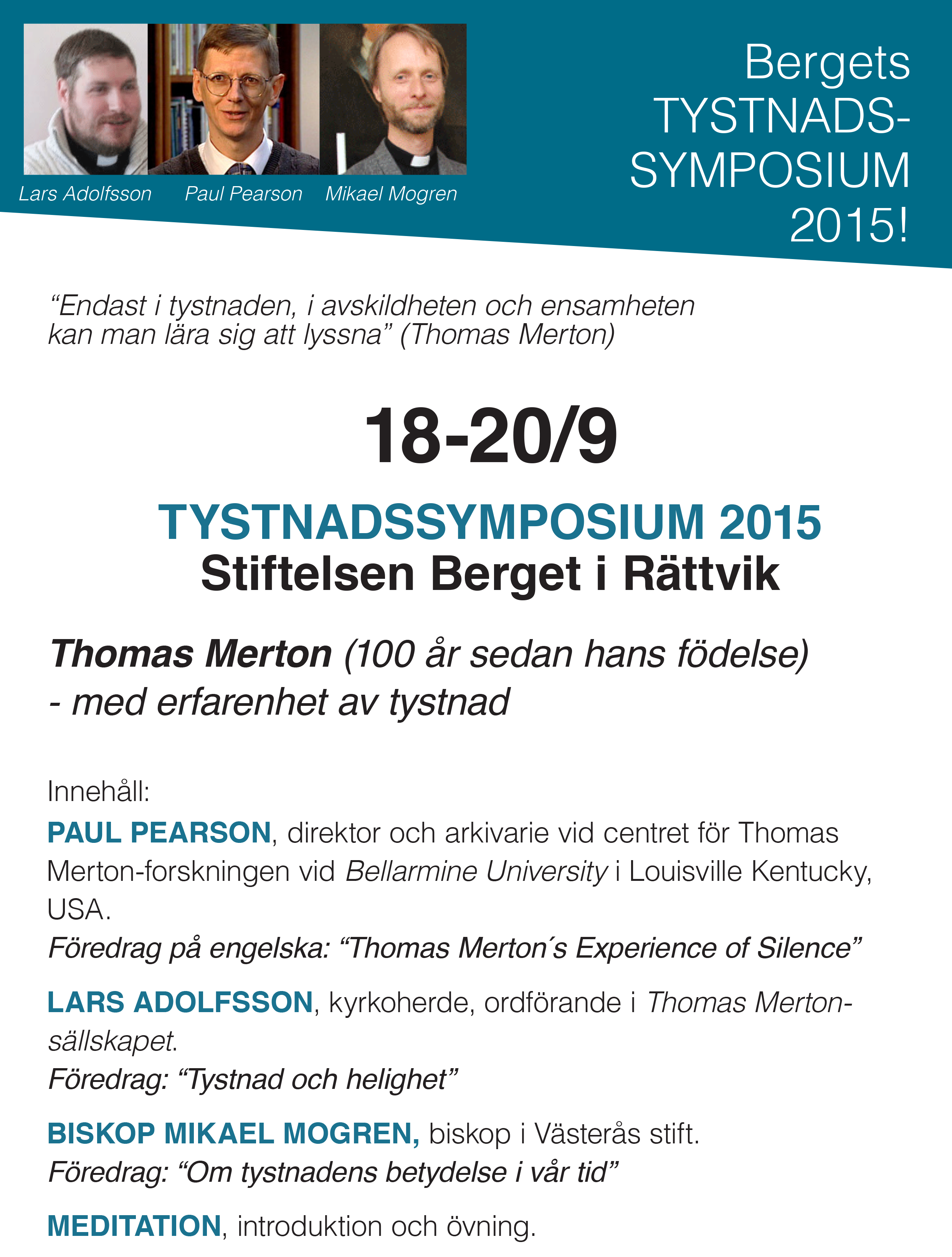 Tystnadssymposiet 2015